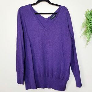 Lane Bryant | Purple V-Neck Pullover Sweater